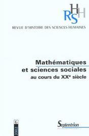 REVUE D'HISTOIRE DES SCIENCES HUMAINES N.6 ; mathématiques et sciences sociales - Intérieur - Format classique