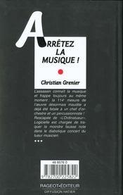 Arretez La Musique - 4ème de couverture - Format classique