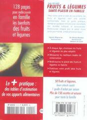 Fruits Et Legumes, Sante-Plaisir En Famille - 4ème de couverture - Format classique
