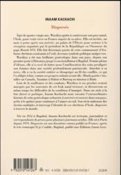 Dispersés - 4ème de couverture - Format classique