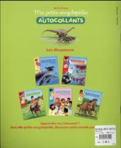 Ma petite encyclopédie en autocollants ; les dinosaure - 4ème de couverture - Format classique