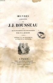 Oeuvres Completes De J. J. Rousseau, Tome Vii, Lettre A C. De Beaumont, Lettres De La Montagne - Couverture - Format classique