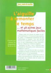 Aiguille A Remonter Le Temps - 4ème de couverture - Format classique