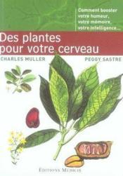 Des plantes pour votre cerveau - Couverture - Format classique