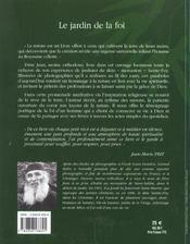 Le jardin de la foi - 4ème de couverture - Format classique