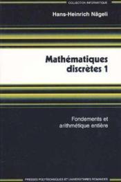 Mathematiques Discretes 1 - Couverture - Format classique