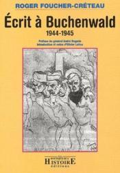 Écrit à Buchenwald ; 1944-1945 - Couverture - Format classique