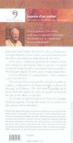 Sagesse De L'Ecuyer (La) - 4ème de couverture - Format classique