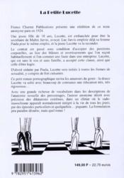 La petite Lucette - 4ème de couverture - Format classique
