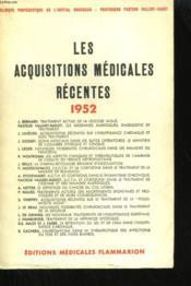 Les Acquisitions Medicales Recentes. - Couverture - Format classique