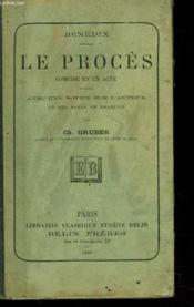 Le Proces. Comedie En Un Acte. - Couverture - Format classique