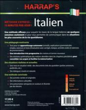 Harrap's méthode express italien - 4ème de couverture - Format classique