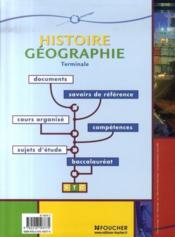 Histoire-géographie ; terminale STG - Couverture - Format classique