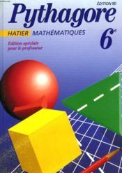 Pythagore Maths 6eme 90 - Couverture - Format classique