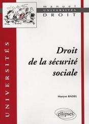 Droit de la sécurité sociale - Intérieur - Format classique