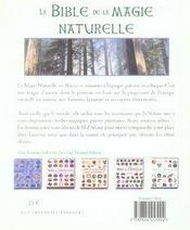 La bible de la magie naturelle ; wicca et anciennes traditions - 4ème de couverture - Format classique