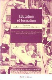 Éducation et formation ; essai sur quelques constantes éducatives - Intérieur - Format classique