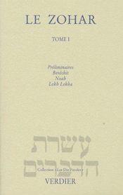 Le zohar t.1 ; génèse - Couverture - Format classique