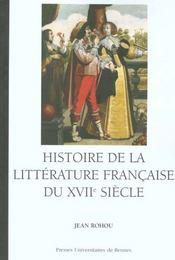 Histoire de la littérature française du XVII siècle - Intérieur - Format classique