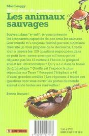Mes Droles De Questions Sur Les Animaux Sauvages - 4ème de couverture - Format classique