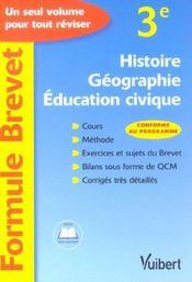 Histoire-geographie-education civique 3eme - Intérieur - Format classique