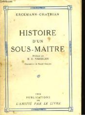 Histoire d'un sous-maître. - Couverture - Format classique