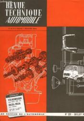 Revue Technique Automobile - N°231 - Couverture - Format classique