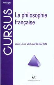 La philosophie francaise - Couverture - Format classique