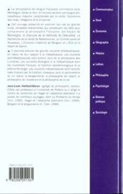 La philosophie francaise - 4ème de couverture - Format classique