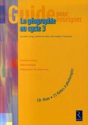 La géographie au cycle 3 - Intérieur - Format classique
