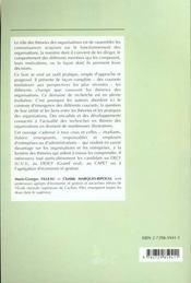 Les Theories De L'Organisation Et De L'Entreprise Decf Descf Capet Agregation - 4ème de couverture - Format classique
