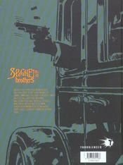 Spaghetti brothers t.2 - 4ème de couverture - Format classique