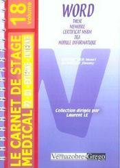 Word - Intérieur - Format classique