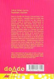 Fashion victim - 4ème de couverture - Format classique