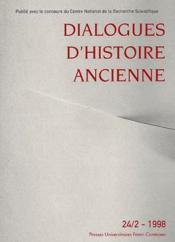 Dialogues D'Histoire Ancienne N.24.2 - Couverture - Format classique