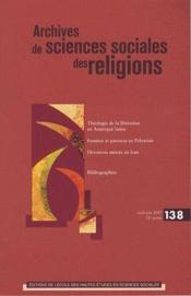 Archives de sciences sociales des religions N.138 ; théologie de la libération - Couverture - Format classique