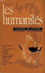 Les Humanites - Classe De Lettres - Avril 1959 - Couverture - Format classique