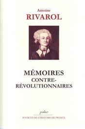 Mémoires contre-révolutionnaires - Intérieur - Format classique