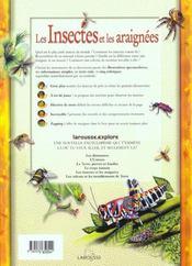 Insectes Et Araignees - 4ème de couverture - Format classique