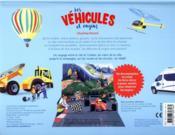 Les véhicules et engins en relief - 4ème de couverture - Format classique