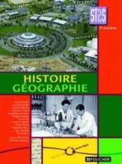 Histoire-geographie 1 re st2s - Couverture - Format classique