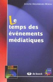 Le temps des évènements médiatiques - Intérieur - Format classique