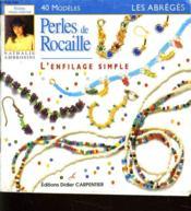 Perles De Rocaille - L'Enfilage Simple - Couverture - Format classique