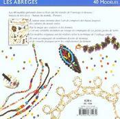 Perles De Rocaille - L'Enfilage Simple - 4ème de couverture - Format classique