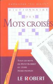 Dict des mots croises - Intérieur - Format classique