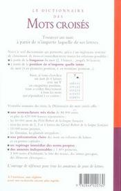 Dict des mots croises - 4ème de couverture - Format classique