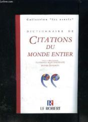 Dict.des citations du monde en - Couverture - Format classique