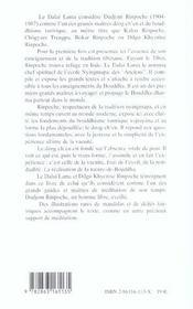 Enseignement De Dudjom Rinpoche (L') - 4ème de couverture - Format classique