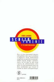 Schizophrenie, Etudes Cliniques Et Psychopathologiques - 4ème de couverture - Format classique