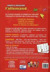 Chante & Decouvre ; L'Allemand - 4ème de couverture - Format classique